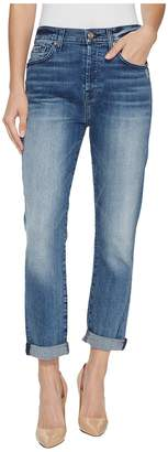 7 For All Mankind High Waist Josefina w/ Light Distress in Wall Street Heritage 3 Women's Jeans