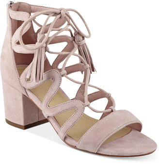Marc Fisher Rayz Lace-Up Sandals $99 thestylecure.com