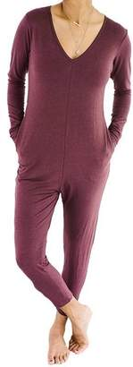 Smash Wear + Tess + TESS THE FRIDAY ROMPER - MOD MAROON, L