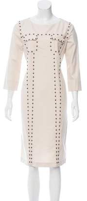 Veronique Branquinho Embellished Wool Dress w/ Tags