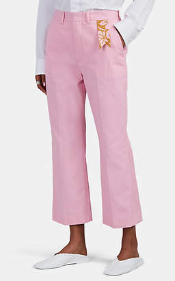 THE GIGI Women's Sonia Cotton Crop Flared Trousers - Pink