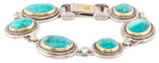 Gurhan Two-Tone Turquoise Bracelet