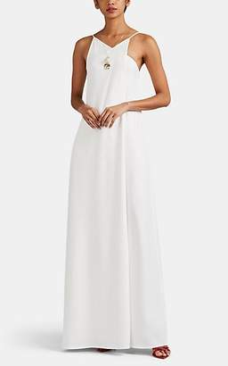 Victoria Beckham Women's Crepe Wrap Gown - Ivory