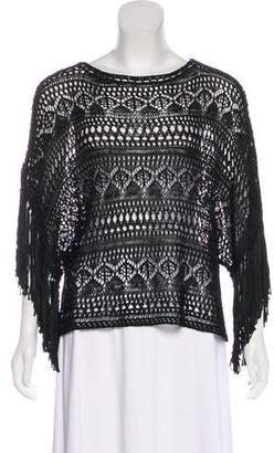 Polo Ralph Lauren Crochet Fringe-Trimmed Top w/ Tags