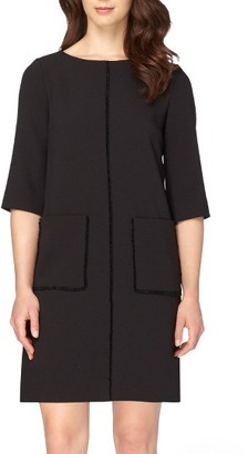 Women's Tahari Fringe Shift Dress $128 thestylecure.com