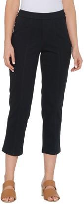 Isaac Mizrahi Live! Regular Knit Denim Crop Pull-On Jeans