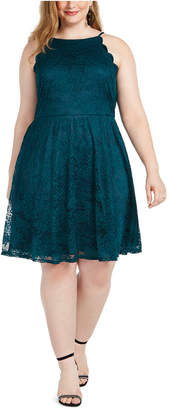 BCX Trendy Plus Size Lace Fit & Flare Dress