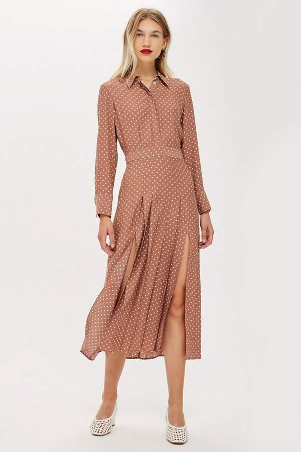 Topshop PETITE Rust Spot Shirtdress