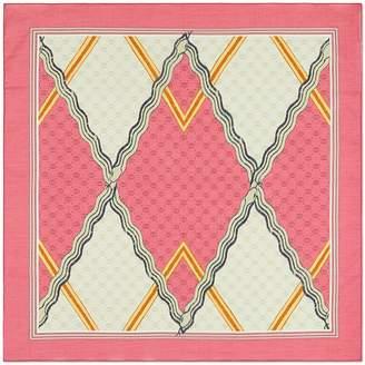 Gucci Snake Print Cotton Scarf