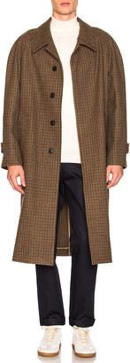 Maison Margiela Felt Houndstooth Coat