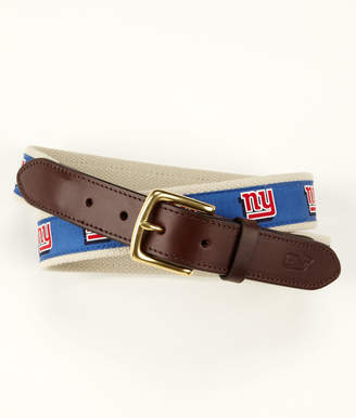 Vineyard Vines New York Giants Canvas Club Belt