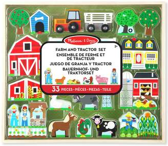 Melissa & Doug Wooden Farm Tractor Set
