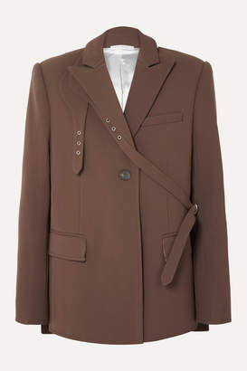 Peter Do - Belted Crepe Blazer - Brown