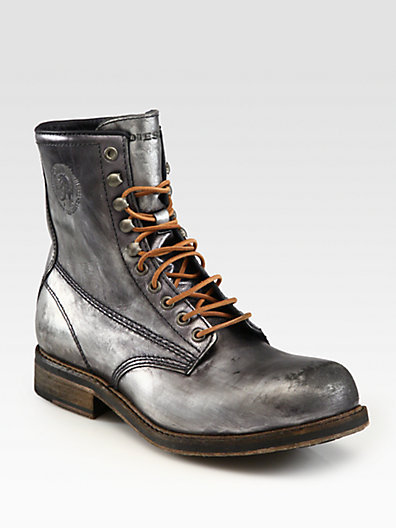 Diesel Brave Nation Lace-Up Boots