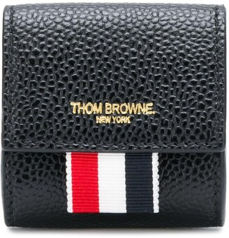 Thom Browne Clasped Leather Small Coin Case