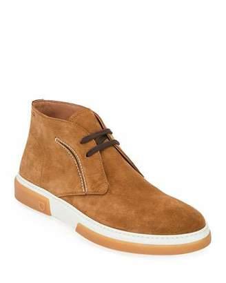 Salvatore Ferragamo Men's Alder Leather Chukka Boots