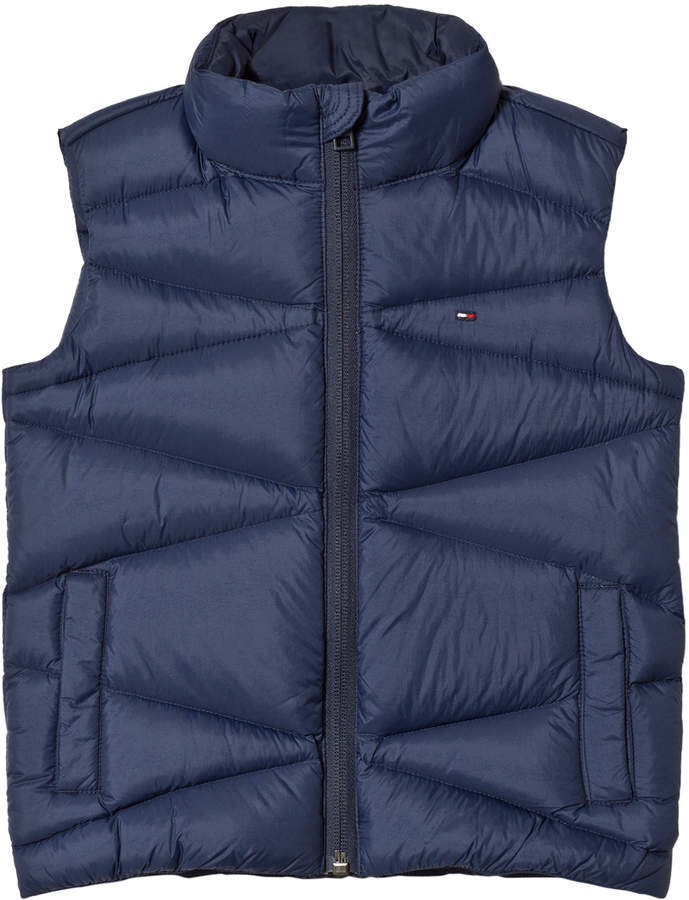 Tommy Hilfiger Navy Quilted Down Gilet