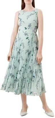 Hobbs London Celeste Pleated Floral Midi Dress