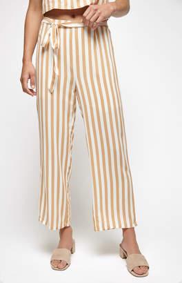 KENDALL + KYLIE Lottie Moss Tie Front Striped Pants