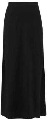 Racil Tallulah Leopard Jacquard Satin Maxi Skirt - Womens - Black