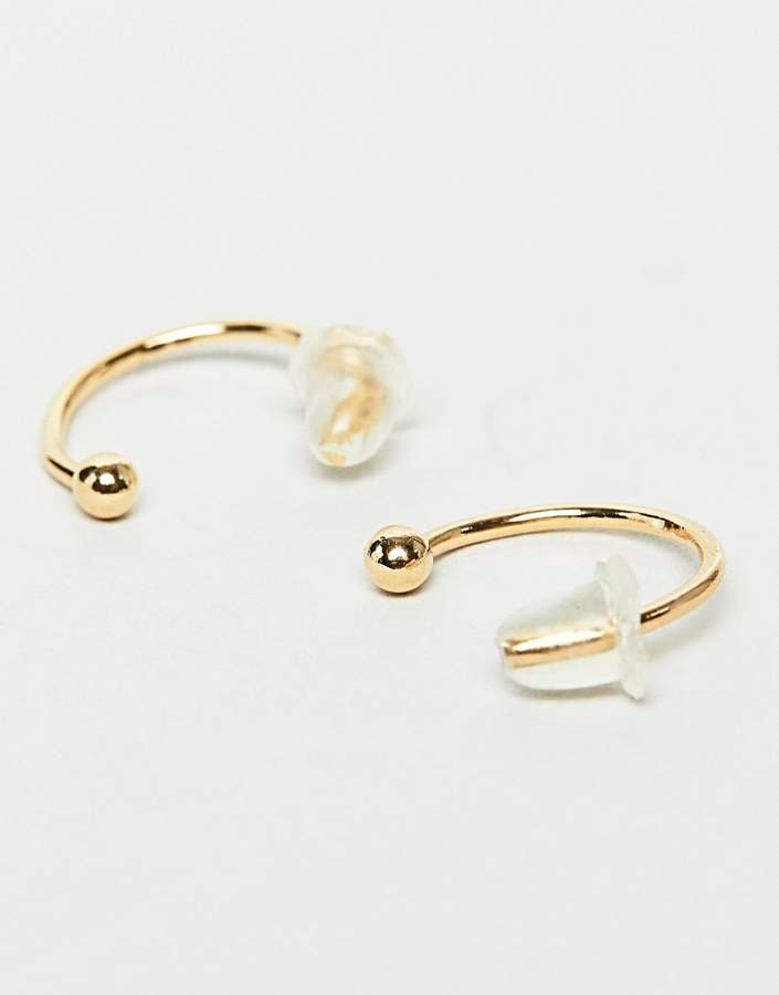 DesignB London DesignB hoop earrings in gold