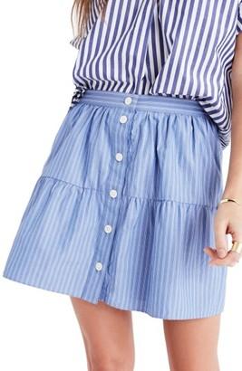 Women's Madewell Bistro Stripe Miniskirt $78 thestylecure.com