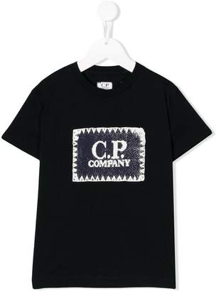 C.P. Company Kids logo patch T-shirt