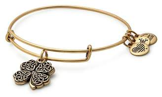 Alex and Ani Four Leaf Clover Expandable Wire Bangle