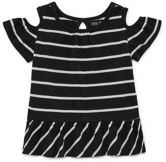 Okie Dokie Cold Shoulder Printed Tee - Baby Girl NB-24M