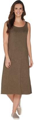 Logo By Lori Goldstein LOGO by Lori Goldstein Jaspe Knit Tank Dress With Pockets