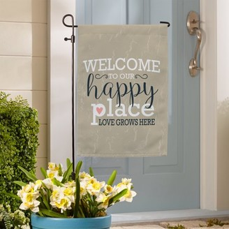 Generic Welcome to Our Happy Place Garden Flag