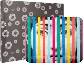 Fornasetti Tema e Variazoni Face and Stripes Tray (48cm x 60cm)