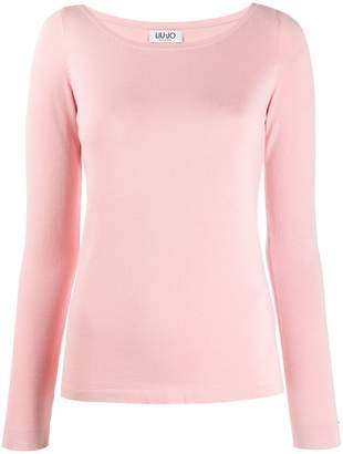 Liu Jo fitted round neck jumper