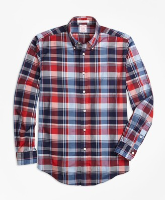 Brooks Brothers Madison Fit Multi Madras Sport Shirt