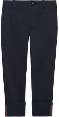 Gucci Kids Children's gabardine pant with Web