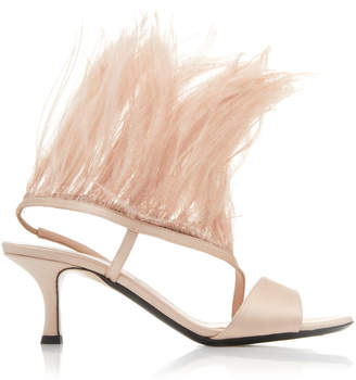 N°21 Feather Satin Sandals