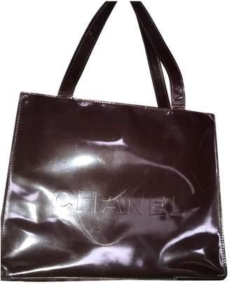 Chanel Vintage Burgundy Patent leather Handbag