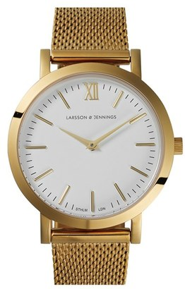 Larsson & Jennings 'Lugano' Mesh Strap Watch, 33Mm $315 thestylecure.com