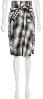 Saint Laurent Gingham Knee-Length Skirt