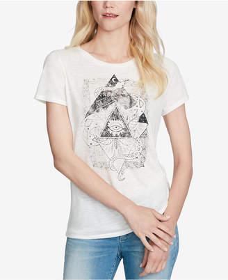 Jessica Simpson Juniors' Allina Twist-Front Graphic T-Shirt