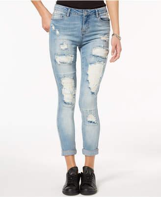 Vanilla Star Ripped Raw-Hem Skinny Jeans