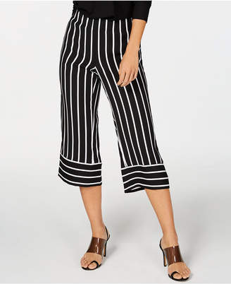 INC International Concepts I.n.c. Striped Wide-Leg Cropped Pants