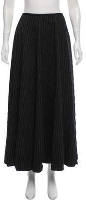 Gunex Striped Wool Skirt