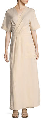 Ava & Aiden Striped Wrap Maxi Dress