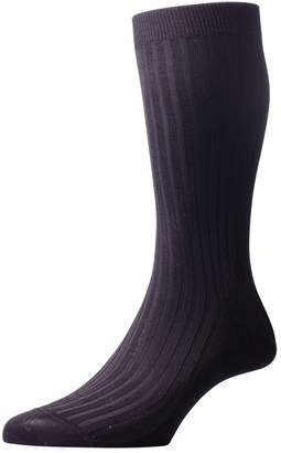 Pantherella Mens Danvers Rib Cotton Lisle Socks - Large