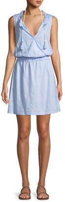 Heidi Klein Sleeveless Cotton Coverup Mini Dress
