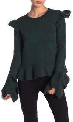 Endless Rose Ruffle Detailed Angora Sweater