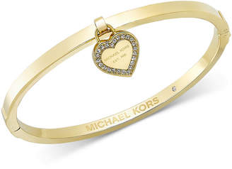 Michael Kors Gold-Tone Bangle with Charm