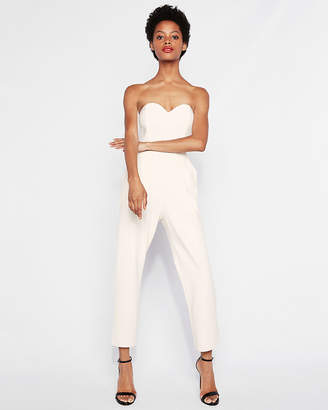 Express Petite Strapless Sweetheart Neckline Jumpsuit