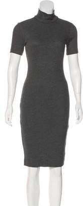 L'Agence Rib Knit Midi Dress